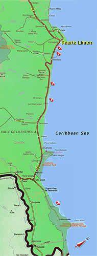 Puerto Limon, Costa Rica Map