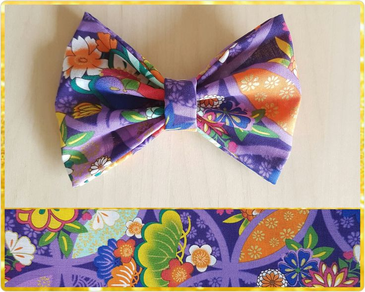 Purple floral hair bow  - flower bow - floral bow by BeePiki on Etsy