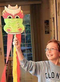 Dragon paper craft