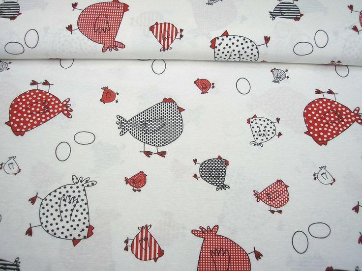 DEKOSTOFF lustige Hühner HUHN von creartica auf DaWanda.com