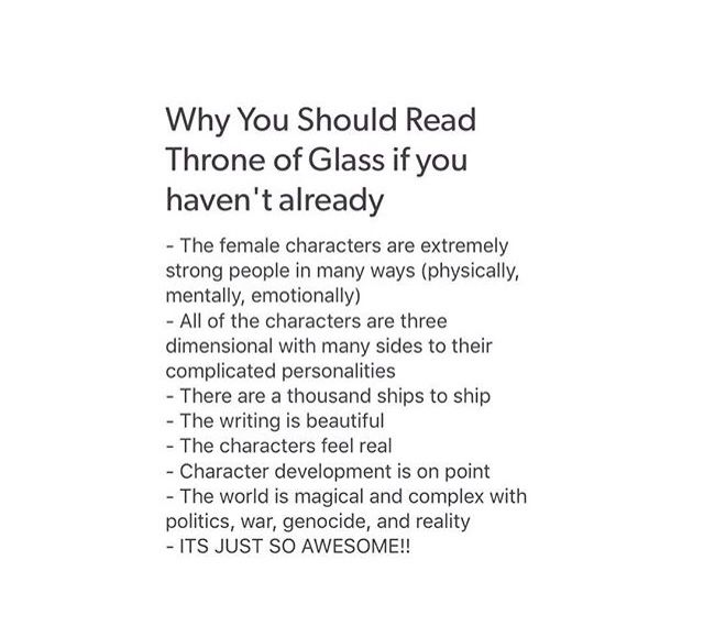 You haven't lived if you haven't read Throne of Glass
