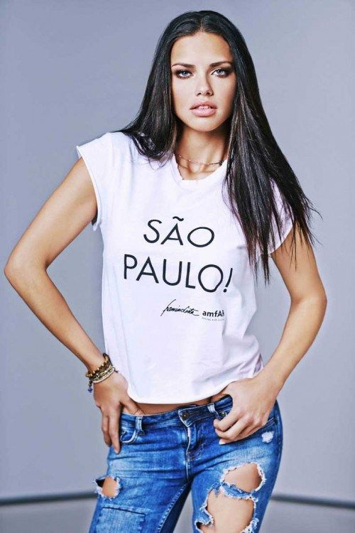 ADRIANA LIMA, blogger, White T-shirt, tshirt, tee shirt, actress, model, singer, hot, celebrity