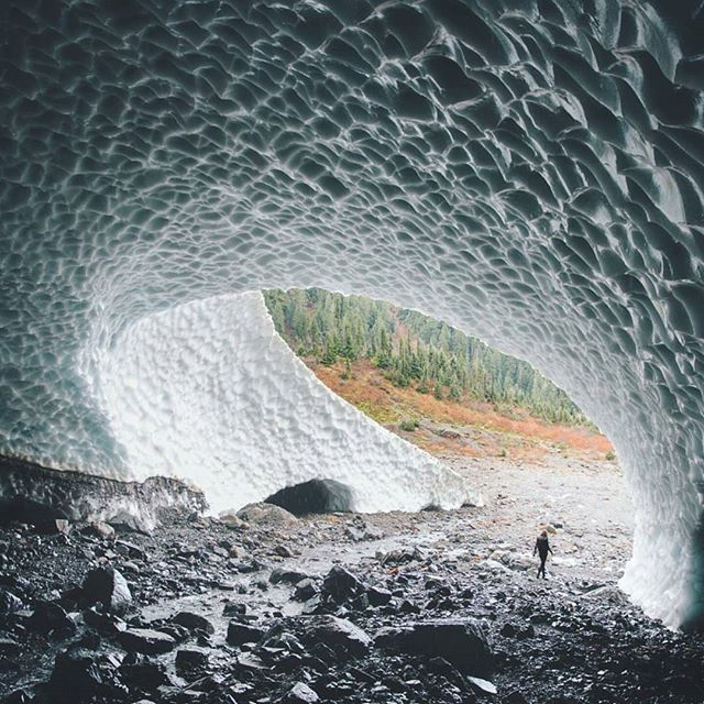 Big Four Ice Caves, Washington. Photo by @mikeygribbin #followmefaraway