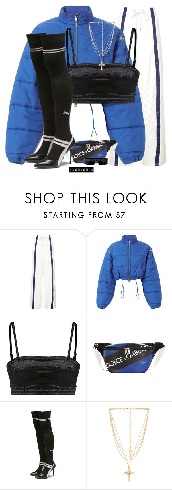 """""""io"""" by ivorionda ❤ liked on Polyvore featuring Puma, 3.1 Phillip Lim, Dolce&Gabbana and Vanessa Mooney"""