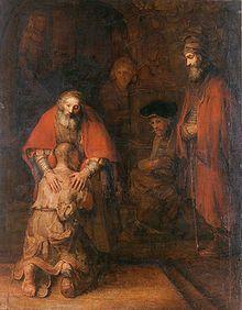 """""""Terugkeer van de Verloren Zoon"""" by Rembrandt Harmenszoon van Rijn (The Return of the Prodigal Son)"""
