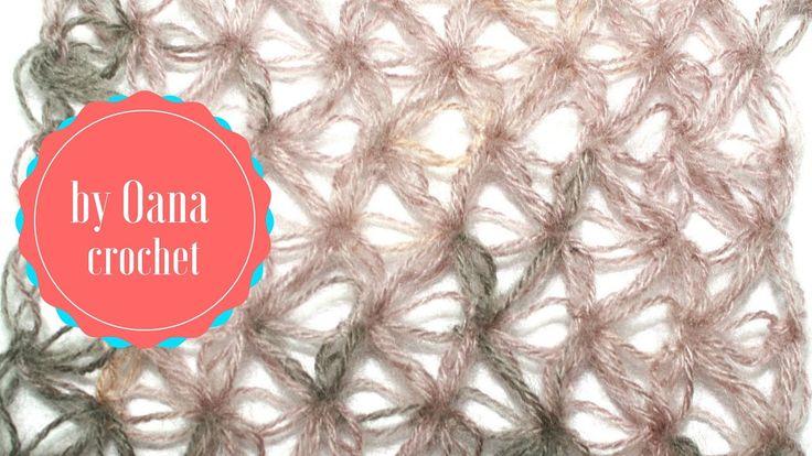 crochet Solomon's knot stitch variation  by Oana