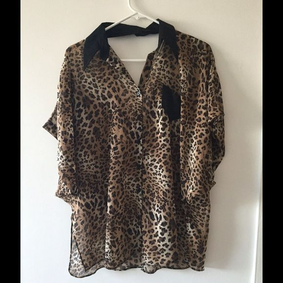 Kill City animal print top Flowy Kill City top. Low cut back, in perfect condition. Kill City Tops Tunics