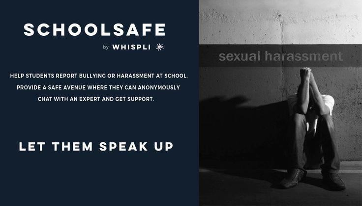 Say no to Harassment and use SchoolSafe to deter Bullying and Harassment in schools.