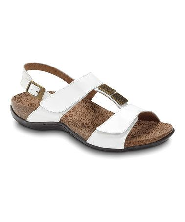Take a look at this White Patent Leather Sonora Sandal by Dr. Andrew Weil Footwear on #zulily today! Cute orthopedic sandals with velcro. GREAT for when feet swell up during pregnancy. The only shoes I wore the last trimester of pregnancy! Feel wonderful. GREAT buy for only $62.99. I spent 130!