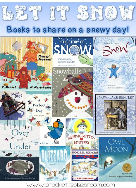 Snowy days ahead!  Let your kids experience the cold winter days with fun and engaging books about snow.  You can also download a free activity!