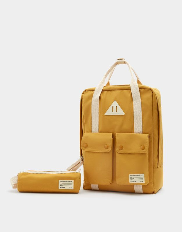 734de5b618 Mustard yellow school backpack - pull bear