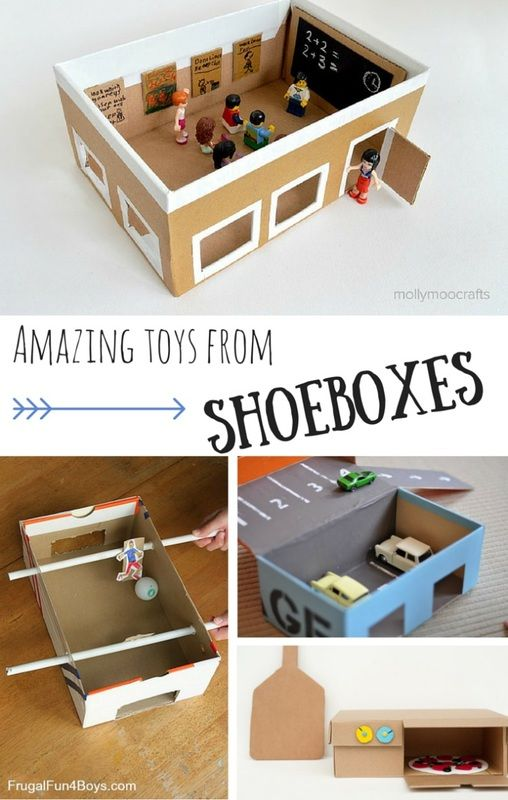 You won't believe the fun toys that can be made from a shoebox!