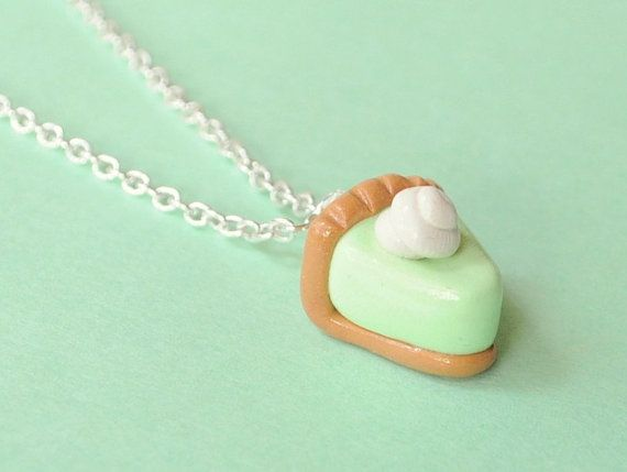 Food Miniature Key Lime Pie Polymer Clay by PumpkinPyeBoutique, $13.00