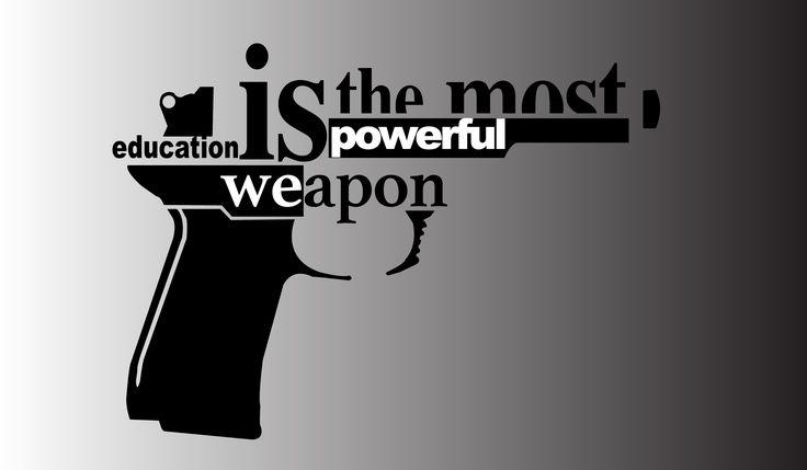 Typography created using Illustrator #PowerOfEducation