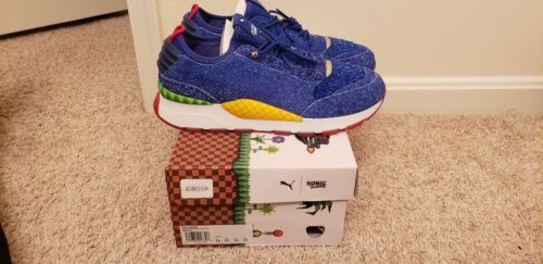 8836168a19a621 DS Puma X SEGA RS-0 Sonic The Hedgehog Size 13 Running Vintage Collector s