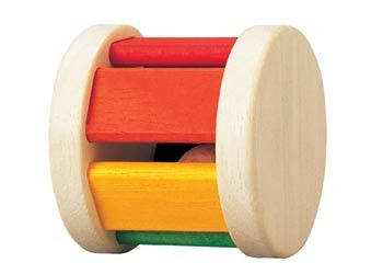 Baby Wooden Roller Rattle