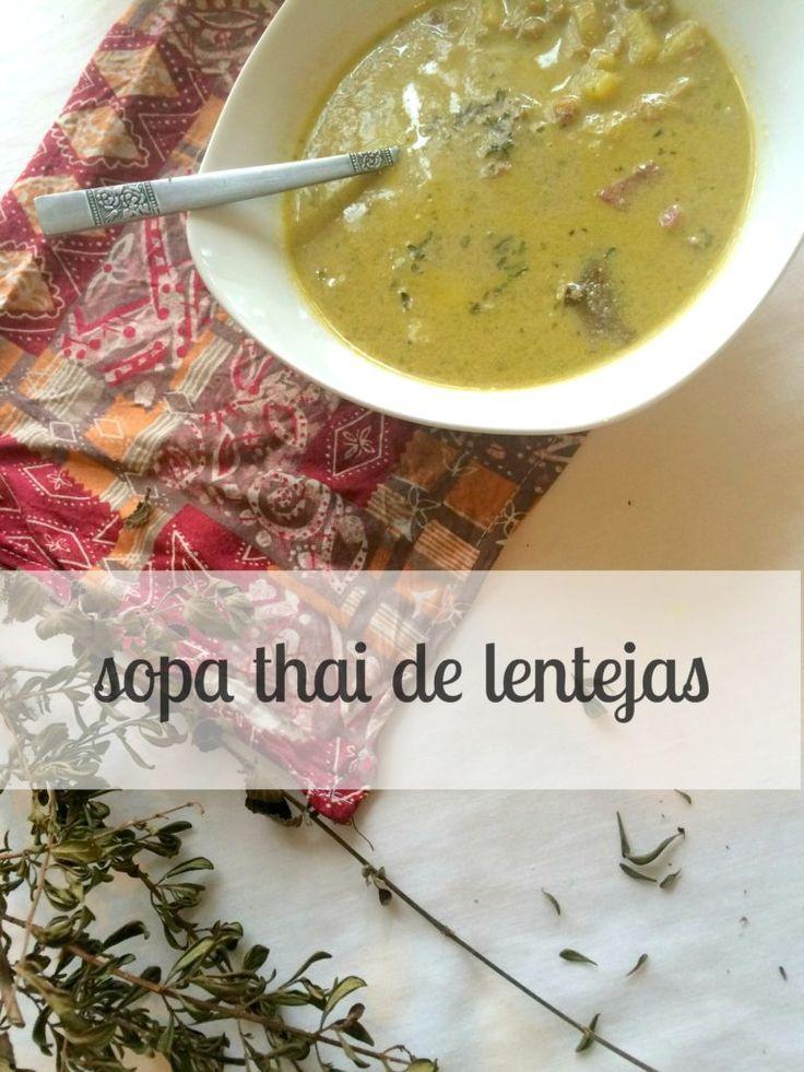 SOPA THAI con leche de coco y menta (vegana, sin gluten)