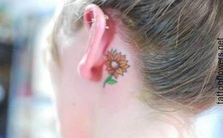 34  Ideas Tattoo Sunflower Small Ankle Ears