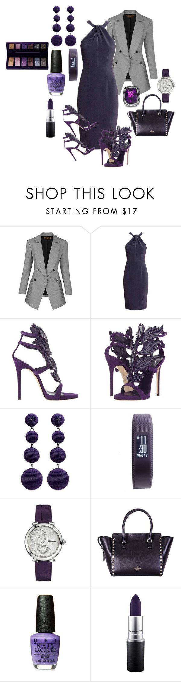 """""""Purple in the boardroom"""" by deirdre35 on Polyvore featuring Giuseppe Zanotti, Kenneth Jay Lane, Garmin, Salvatore Ferragamo, Valentino, MAC Cosmetics and By Terry"""