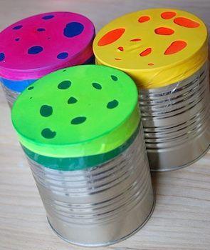 Instrumentos musicales reciclados tambor 4