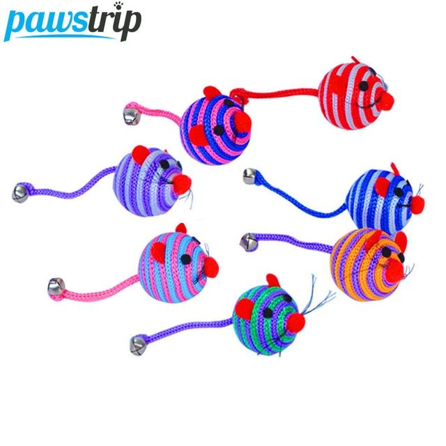 <b>pawstrip 5pcs</b>/<b>lot Pet Cat</b> Toy <b>Ball</b> Cartoon Mouse Toy For <b>Cats</b> ...