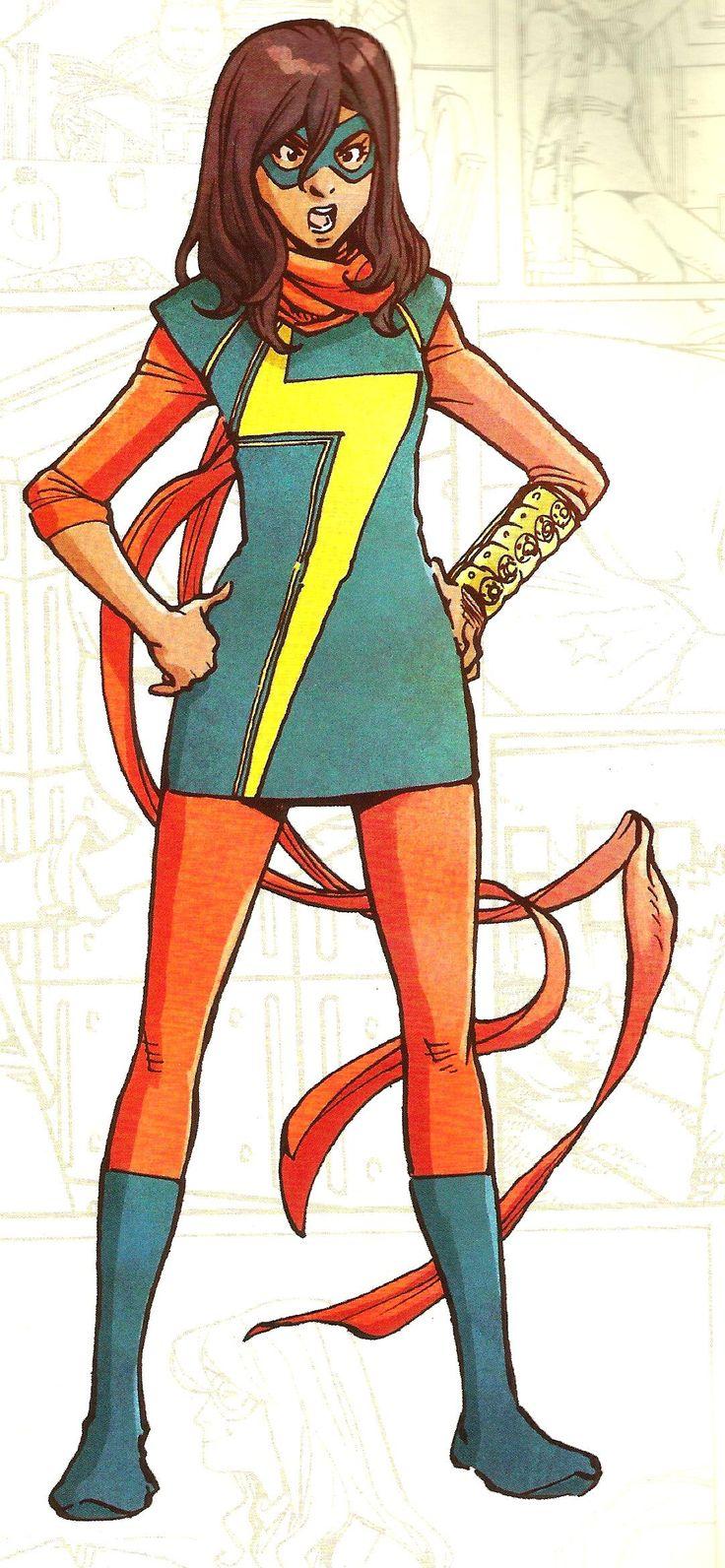 Ms. Marvel, alias Kamala Khan, tecknad av Takeshi Miyazawa.