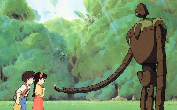 Anime Movie Guide with a list of 64 of the best Anime movies out there. Pictured here is Laputa: Castle in the Sky, one of my faves.