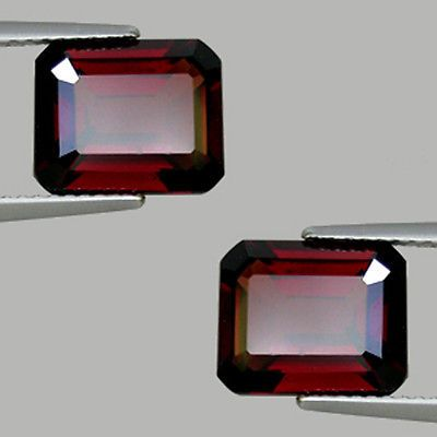 10-25ct-SHIMMERING-NATURAL-PURPLE-RED-PYROPE-GARNET-EMERALD-PAIR-595