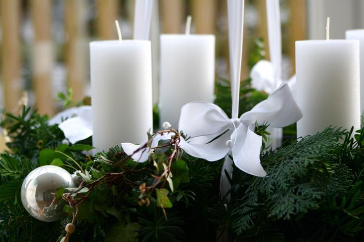 This years advent wreath #adventwreath #christmas #snow