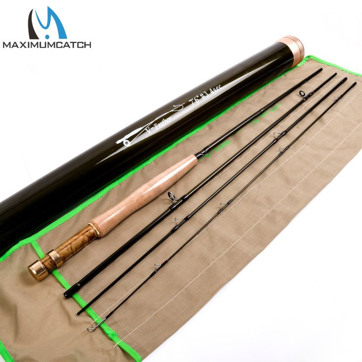 Maximumcatch V-Feather 7634 Fly Fishing Rod SK Carbon Fiber Very Light Fly Rod Only 70g With a Carbon  Fiber Rod Tube