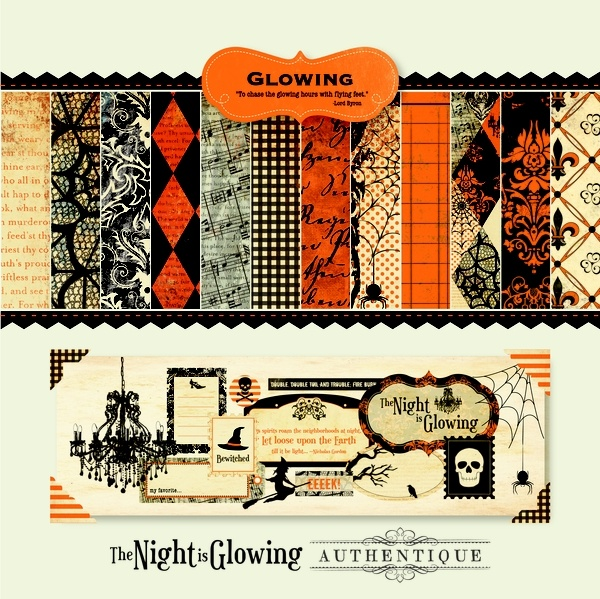 Glowing Collection by Authentique Paper - our first ever Halloween line - combines beautiful vintage design with texture galore!