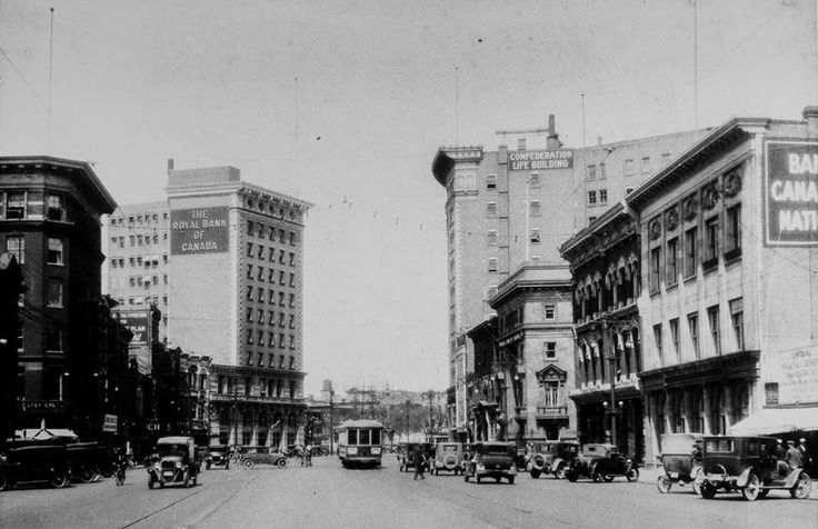 "In 1928 this is looking North on Portage and Main (photo courtesy of ""Winnipeger"" on Facebook"