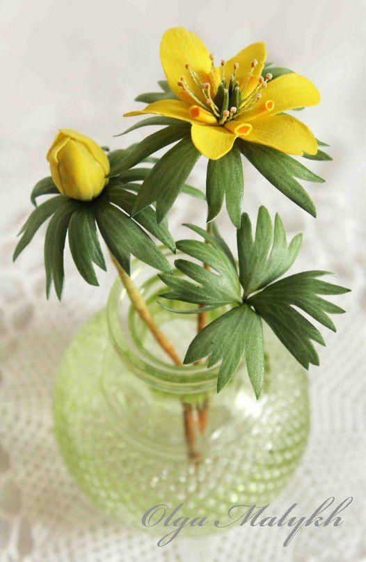 цветок лимона из фоамирана