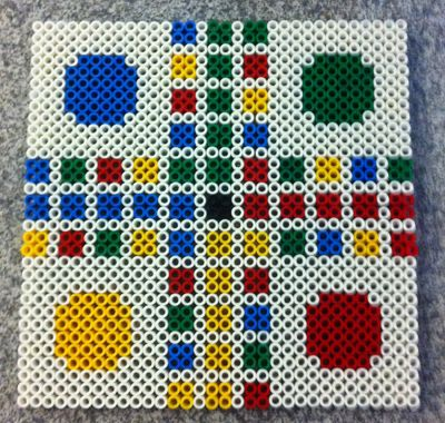 Ludo game board made with NABBI Ironing / Fuse Beads