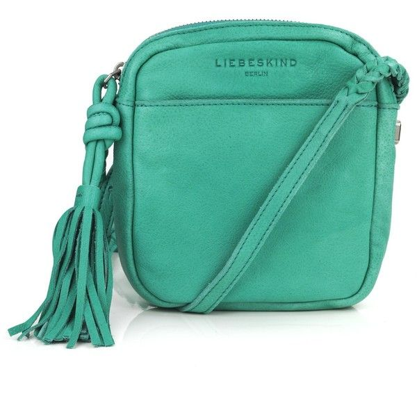 LIEBESKIND Chisana Clutch Bag (165 CAD) ❤ liked on Polyvore featuring bags, handbags, clutches, green, zipper handbag, liebeskind handbags, zipper purse, tassel handbags and tassel purse