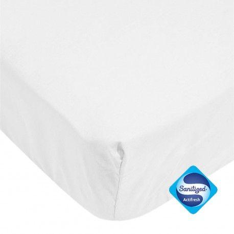 Protège matelas bébé waterproof en éponge blanc 60*120 cm -  Existe aussi en: 60*120 cms -