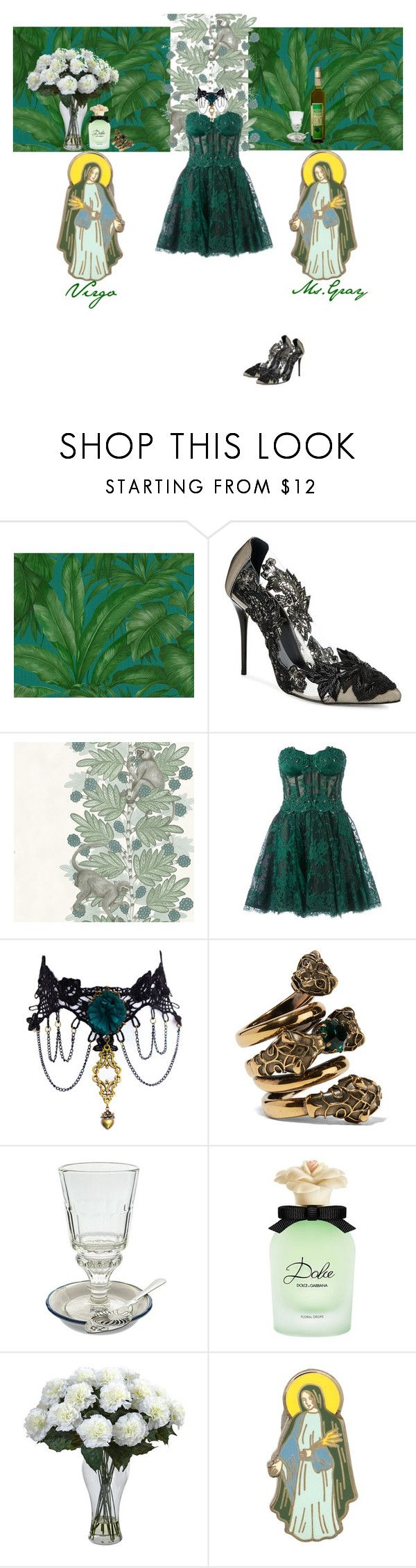 """""""Virgo"""" by fmsgray ❤ liked on Polyvore featuring Versace, Oscar de la Renta, Cole & Son, Zuhair Murad, Gucci, Dolce&Gabbana and PINTRILL"""