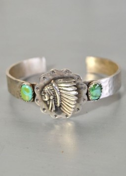 Richard Schmidt~ Chief turquoise cuff... I wish I could come across this one!