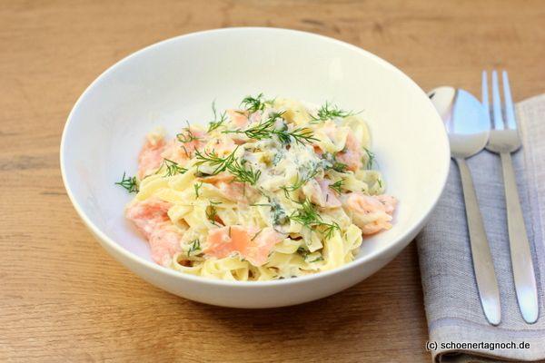 Schöner Tag noch! Food-Blog mit leckeren Rezepten für jeden Tag: Linguine mit Räucherlachs, Crème fraiche und Noilly Prat