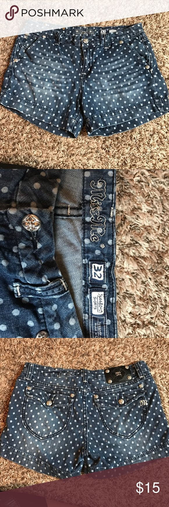 Miss Me Polka Dotted Shorts Miss Me Polka Dotted Jean Shorts. Worn a few times. Great condition. No stains or tears. Miss Me Shorts Jean Shorts