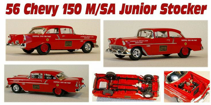 56 chevy 150 m sa junior stocker my model cars