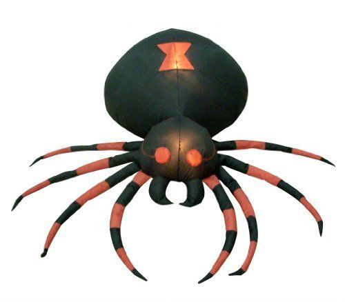 giant inflatable spider 4 feet wide yard decoration halloween black