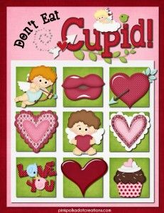 A HUGE list of FREE Valentine's Day Printables, like this Don't Eat Cupid printable game!!