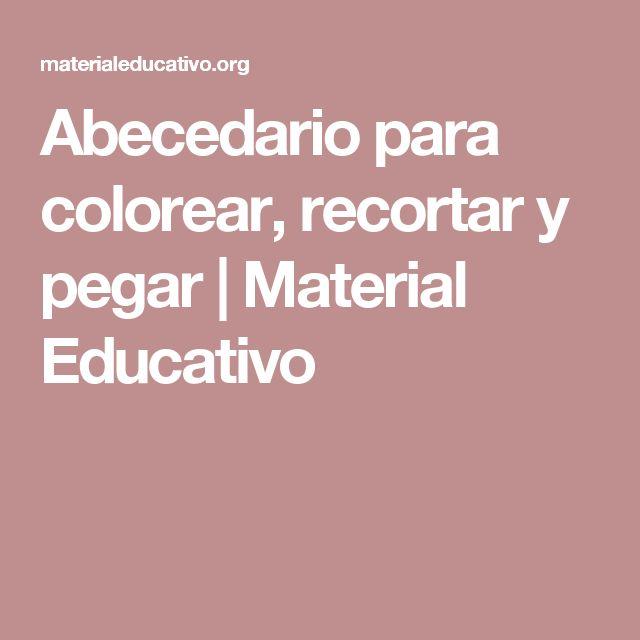 Abecedario para colorear, recortar y pegar | Material Educativo