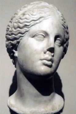 Aphrodite was the goddess of beauty and love in Greek mythology. The Roman goddess, Venus, closely represented her. The Greeks believed that she had a dual nature. As 'Aphrodite Pandemos' (Aphrodite of all the people), she was the patroness of physical love. As 'Aphrodite Urania' (Aphrodite of the skies) she inspired spiritual and intellectual love.