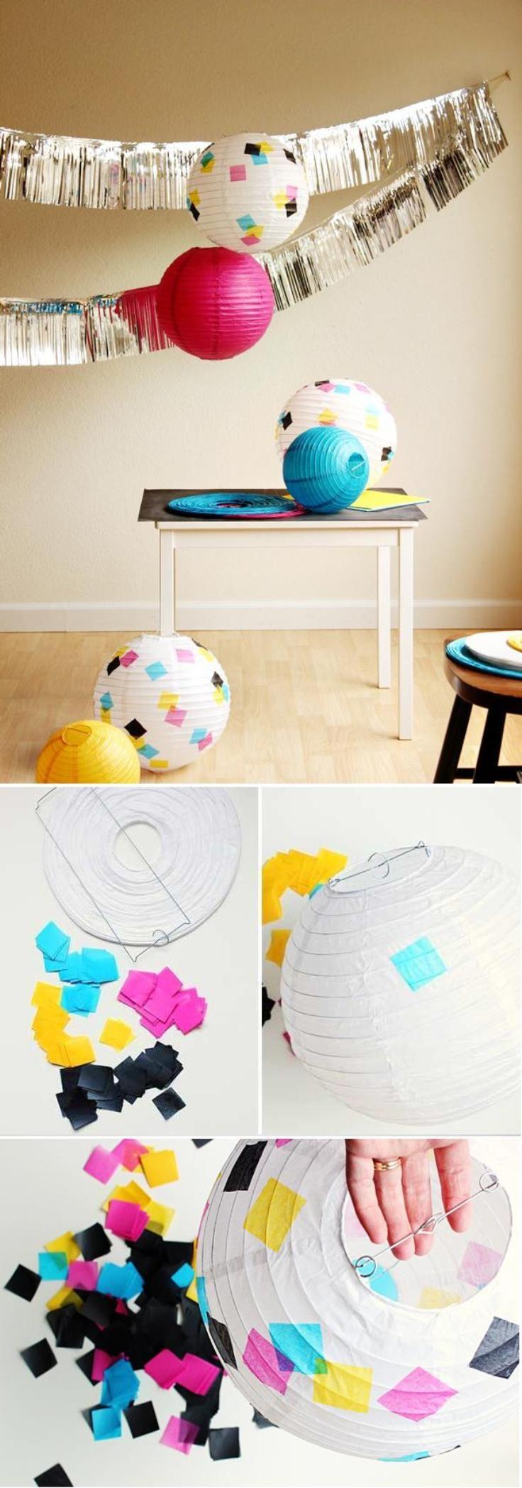 Best 25 tissue paper lanterns ideas on pinterest cherry for Paper decorations diy