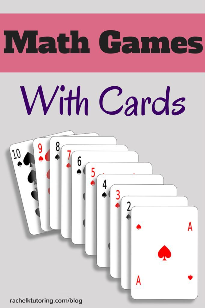 Here are some great math games to play with cards! These can be used for math centers, review, extra practice, or just for fun.