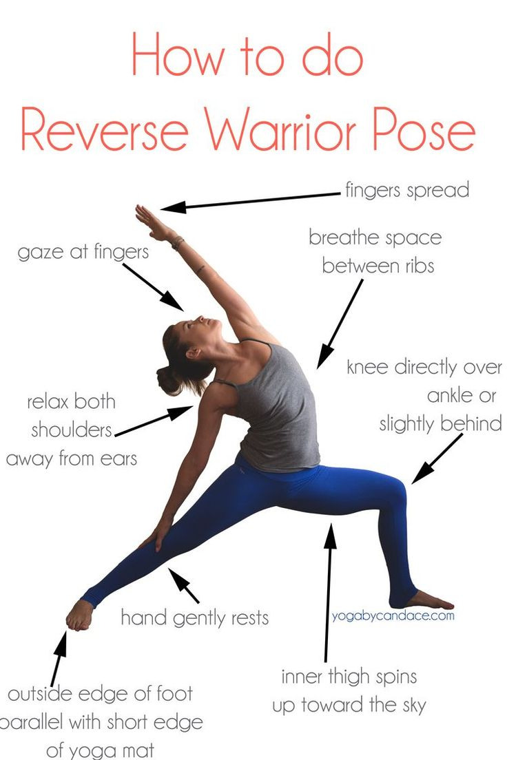 How to do Reverse Warrior Pose #yoga #zen