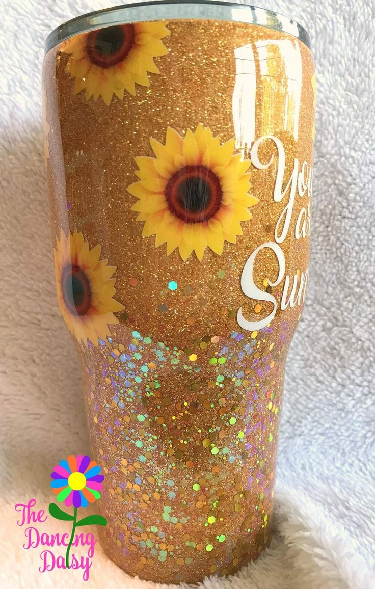 30 oz Sunflower tumbler - You are my Sunshine | You are my ...