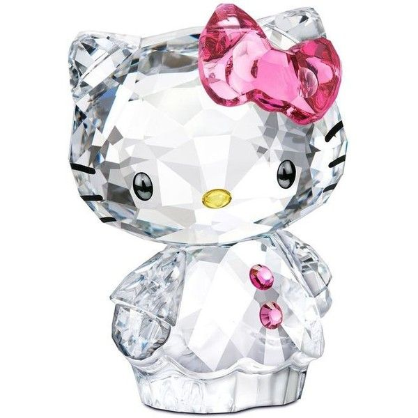 Swarovski Collectible Figurine, Hello Kitty Bow- Retired in 2013 ❤ liked on Polyvore featuring home, home decor, hello kitty, hello kitty home decor, hello kitty home accessories and hello kitty figurines